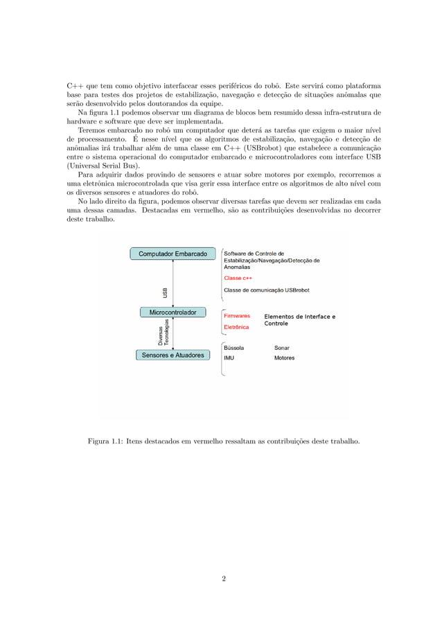 C++ que tem como objetivo interfacear esses perif´ericos do robˆo. Este servir´a como plataforma base para testes dos proj...