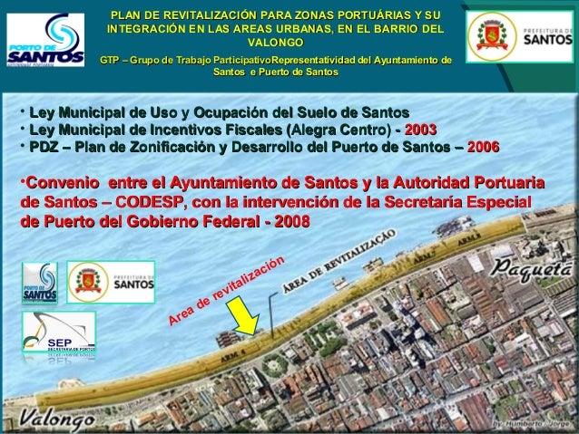 Principios Generales del Programa de Revitalización de Áreas Portuarias Genova  Xangai  El Ayuntamiento de Santos estudió ...