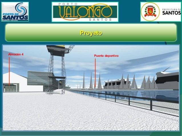 Propuesta del Ayuntamiento de Santos para el plan general de ocupación del área a ser revitalizada  En contraste con un ár...