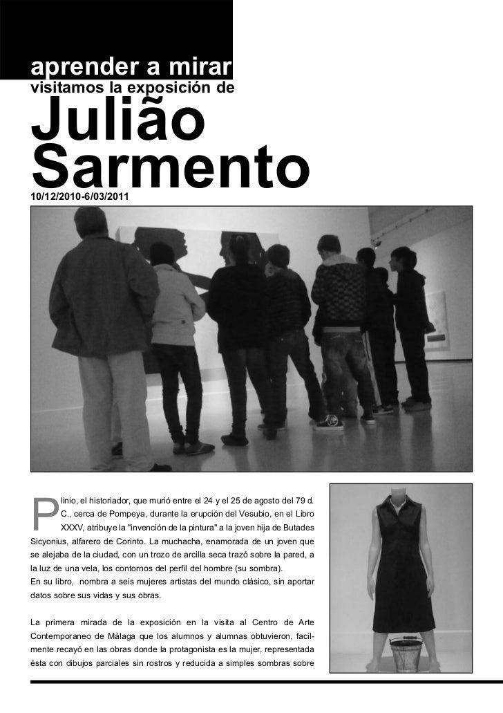 aprender a mirarvisitamos la exposición deJuliãoSarmento10/12/2010-6/03/2011        linio, el historiador, que murió entre...