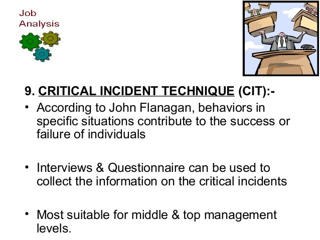 job analysis design  processing information 13 9 critical incident