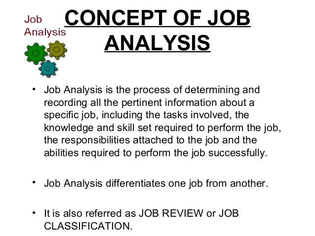 Job Analysis  Design
