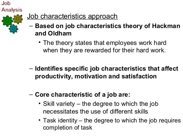 five job characteristics approach