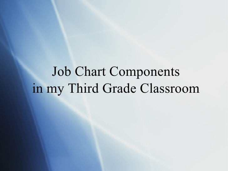 Job Chart Components in my Third Grade Classroom