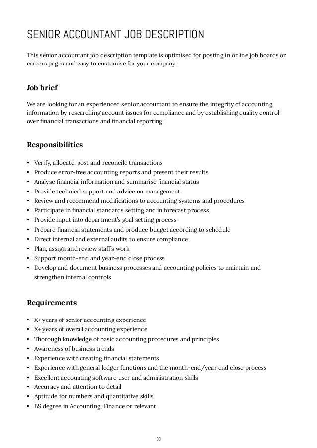 33 33 senior accountant job description