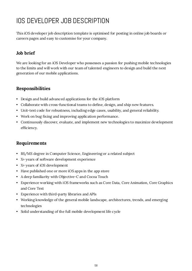 how to write job descriptions - App Developer Job Description
