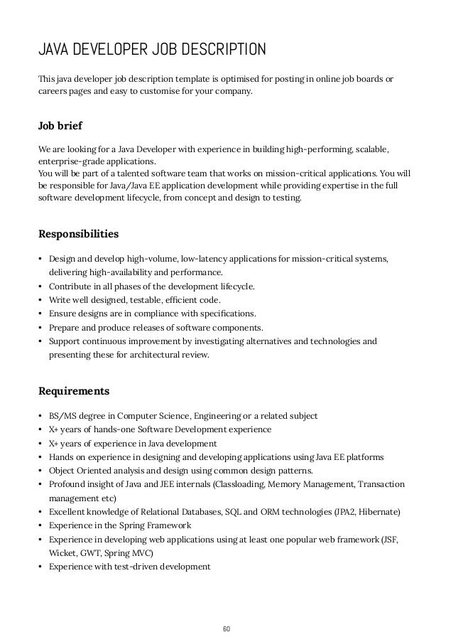how to write job descriptions application development job description