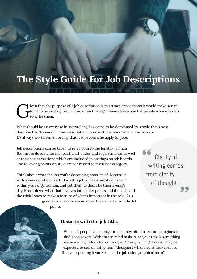 7 How to Write Job Descriptions