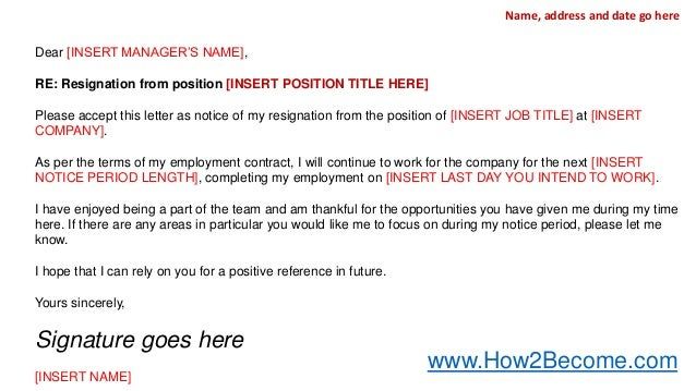 Job Resignation Letter TEMPLATE INCLUDED