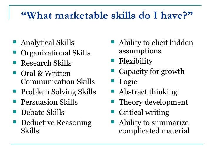 marketable skills