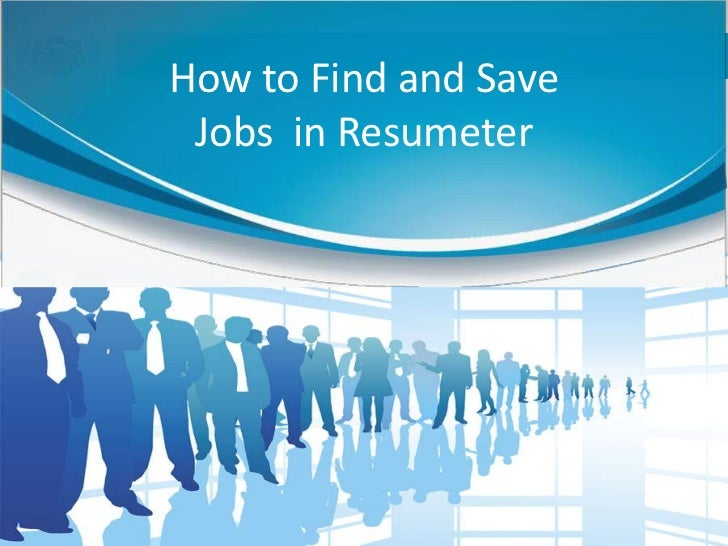 How to Find and Save Jobs in Resumeter