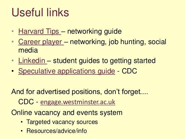 ... 19. Useful Links U2022 Harvard Tips U2013 Networking Guide U2022 Career ...