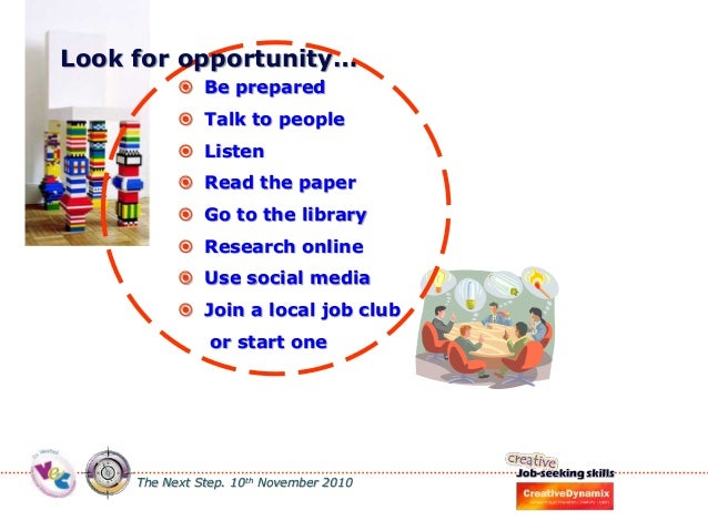 Job seeking skills, being creative when looking for employment