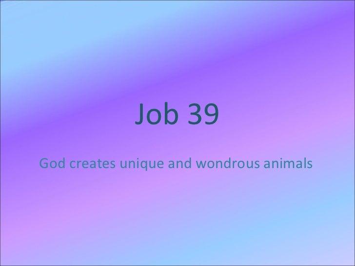 Job 39 choral reading