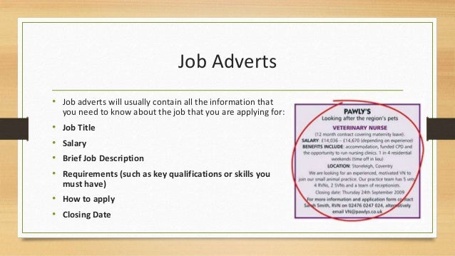 how to respond to job advertisement