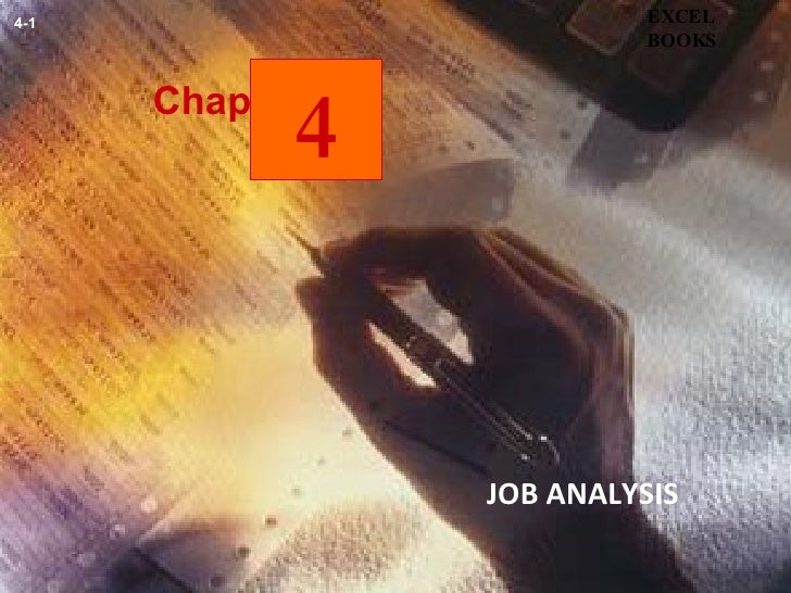 Chapter JOB ANALYSIS   EXCEL BOOKS 4-1 4