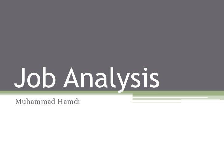 Job AnalysisMuhammad Hamdi