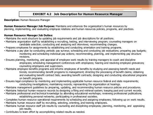 Job Analysis – Hr Manager Job Description