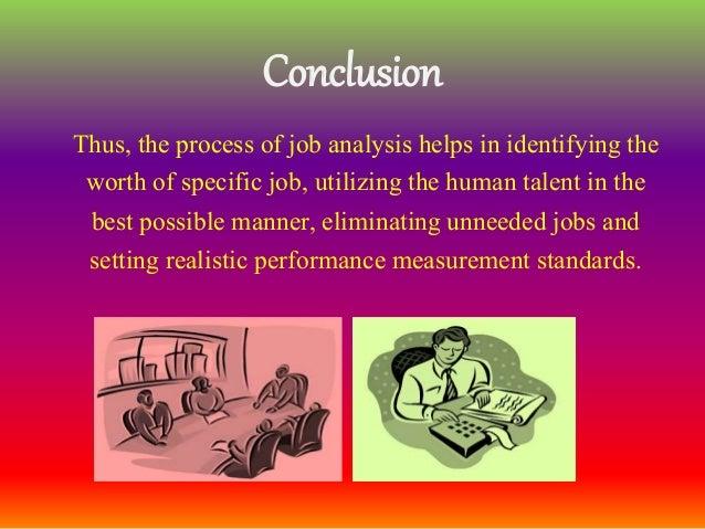 conclusion of job analysis