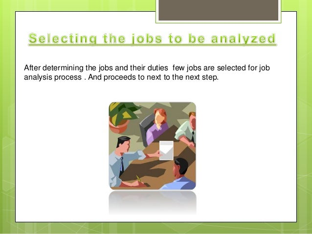 job analysis and selection Job analysis: how do i conduct a i thought you'd like this article i found on the shrm website: job analysis.