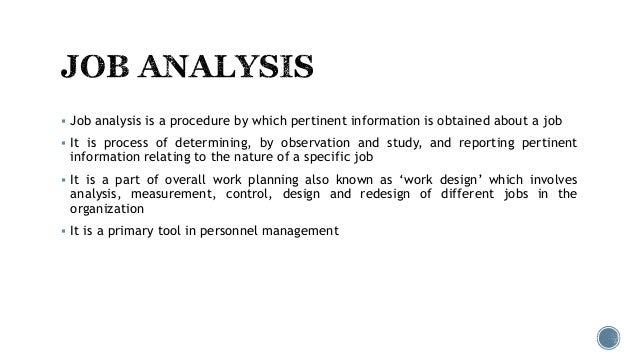 Job analysis Slide 2