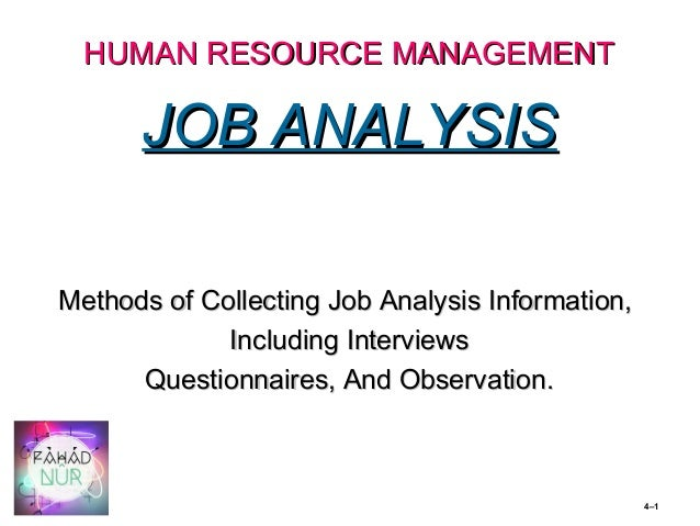 10 job analysis methods