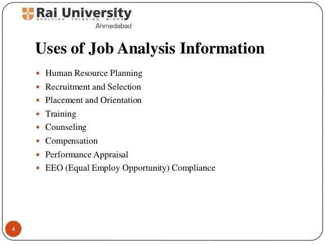 job analysis and human resource requirement • what is a job analysis human resource products why use a job analysis position descriptions, job announcements, etc.