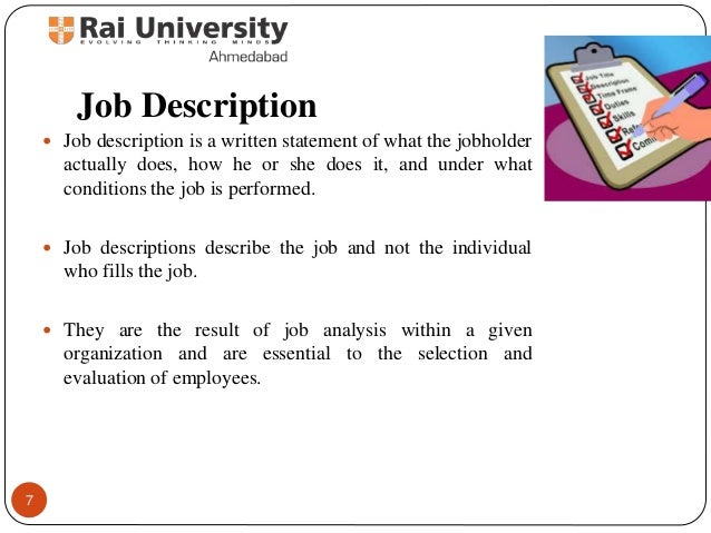 Job Analysis - Principles Of Human Resource Management