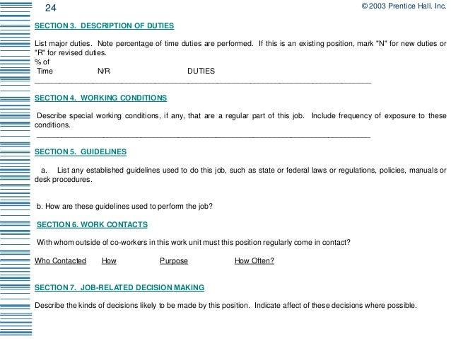job analysis and description