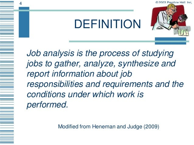 Job Analysis And Description