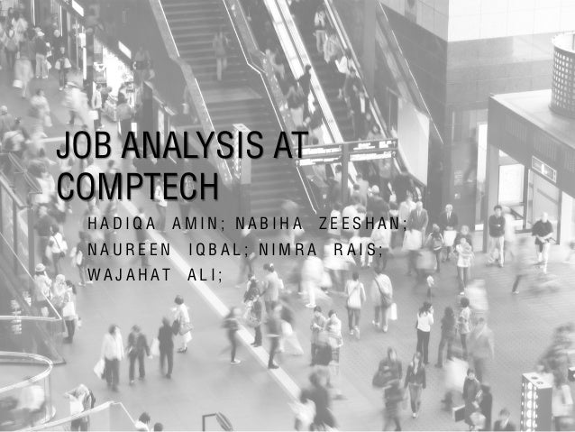 Job Analysis at CompTech
