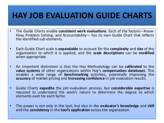 job evaluation systems The job evaluation system point rating job evaluation is one method of determining the relative value of jobs it is particularly suited to jobs consisting of a.