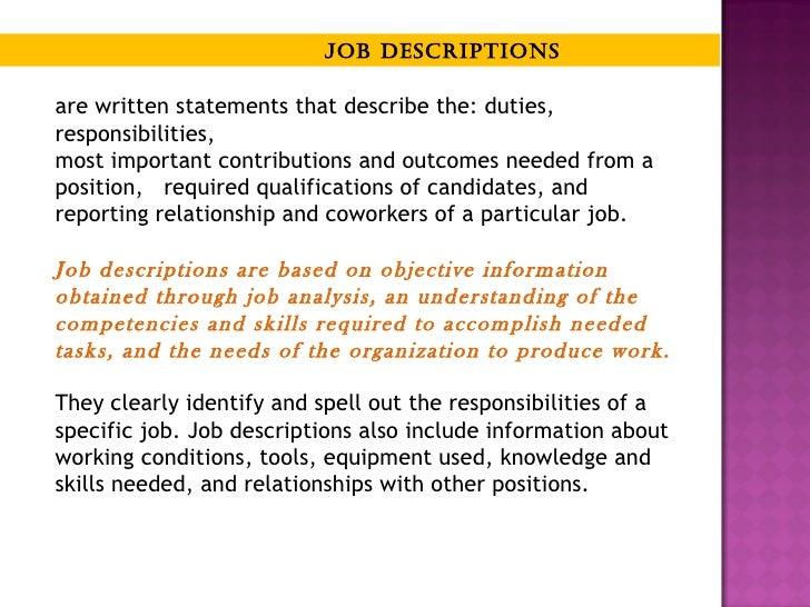 Job Analysis Job Design And Job Acquisition
