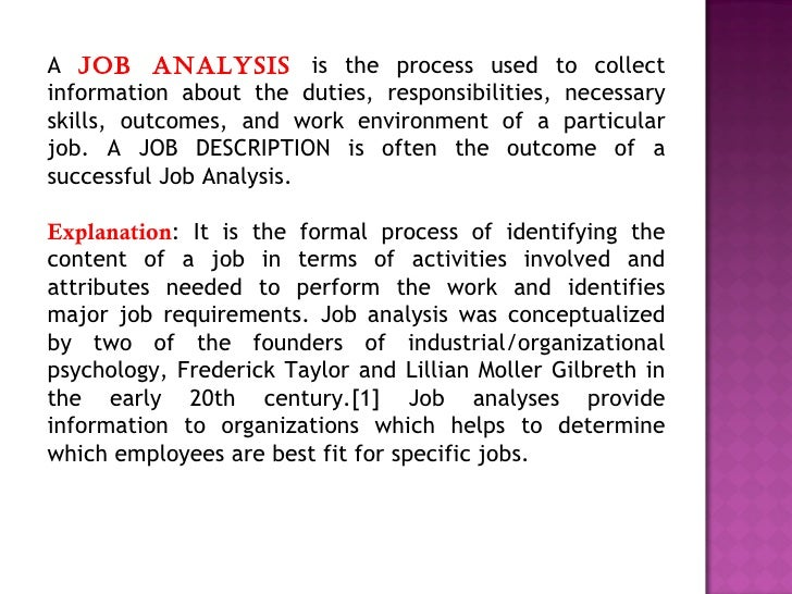 2 job analysis and job design Definition of job design: work arrangement (or rearrangement) aimed at reducing or overcoming job dissatisfaction and employee alienation arising from repetitive and mechanistic tasks.