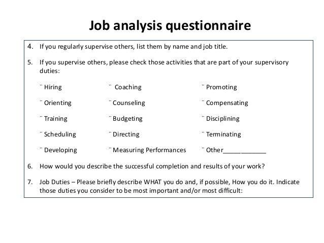 job analysis l5