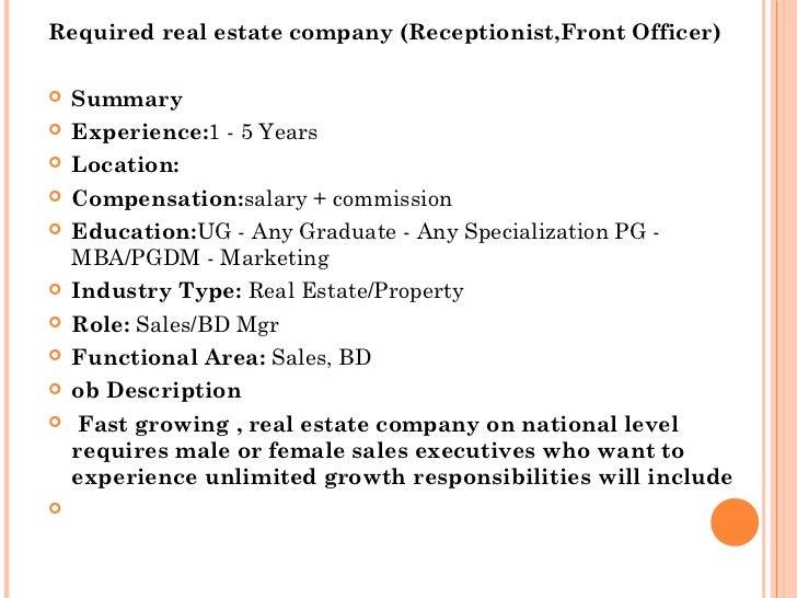 Job Analysis Real Estate