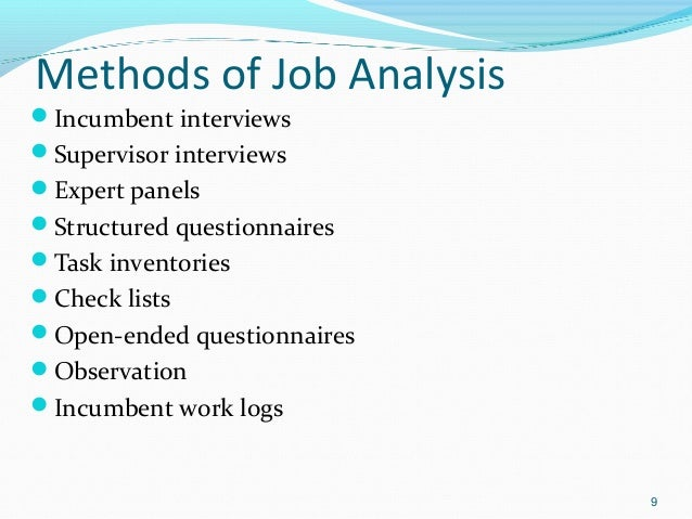 job task analysis and recruitment Models of functional job analysis (fine,  job and task analysis,  incentives for the recruitment of already trained and experienced personnel to under.