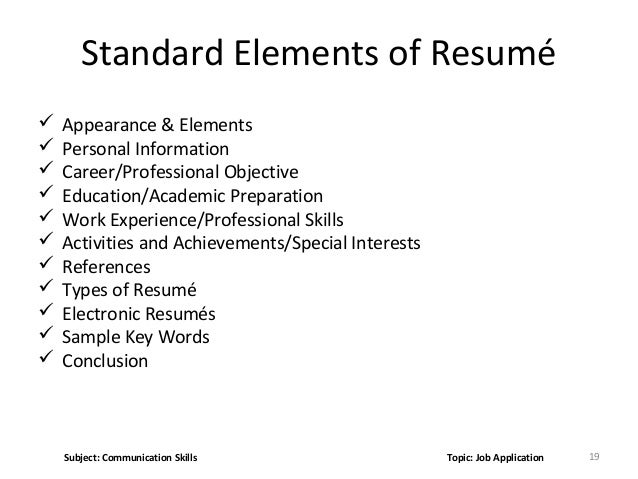 key skills for a resumes