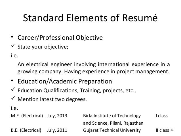 objective for job application