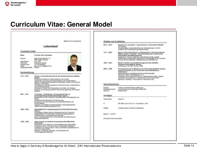 tabular cv sample