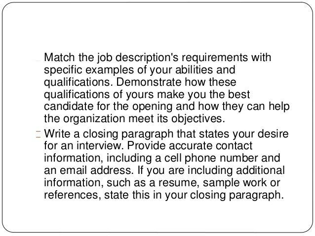 job application letter