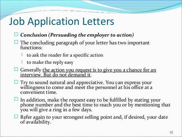 job application letters 11