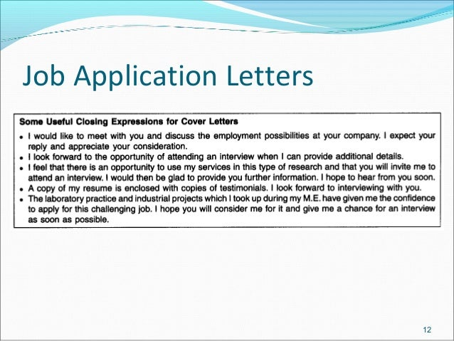 job application letters  u0026 resume