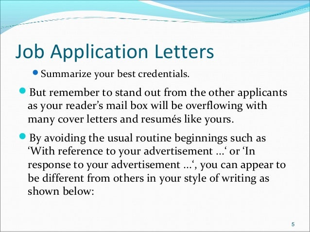 Job application letters & resume