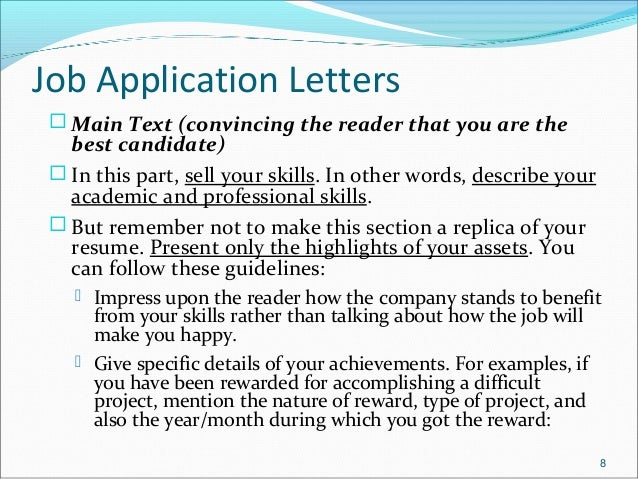 job application letters 9