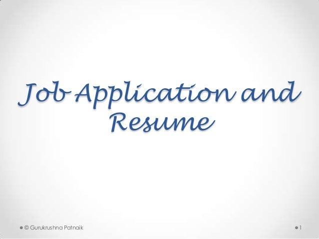 Job Application Resume