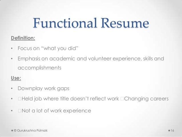 Wonderful Functional Resume Definition: ... And Definition Of Functional Resume