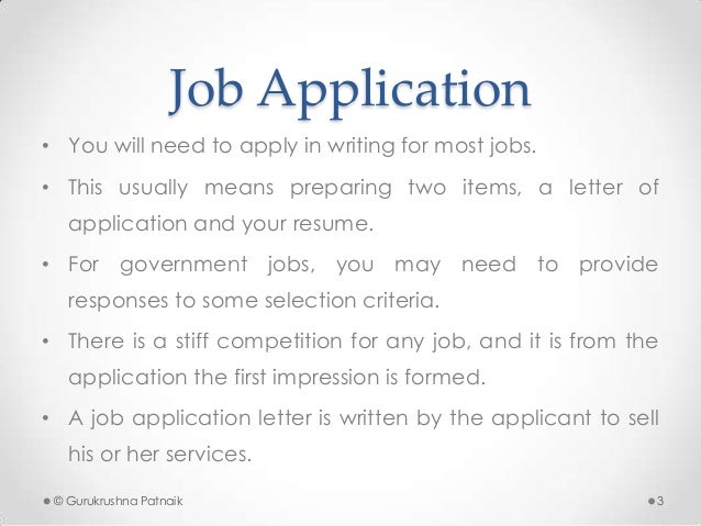 Job Application & Resume