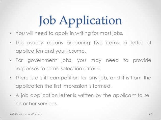 Job Application ...