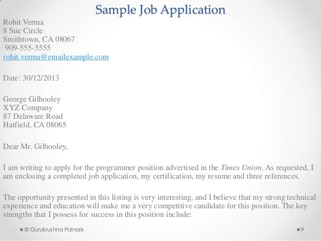 job application resume